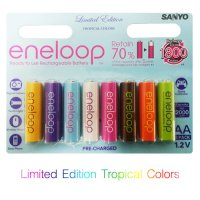ถ่านชาร์จ eneloop AA Limited edition tropical colors